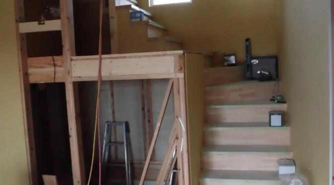 階段付きました