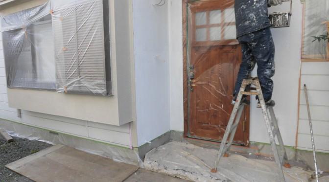 外壁塗り替え始まりました