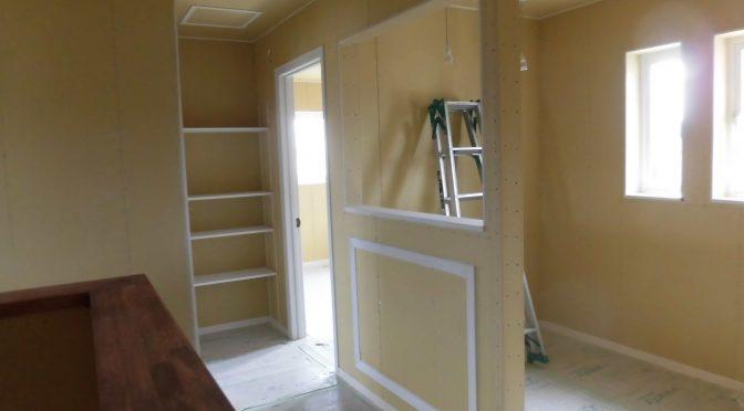 塗装工事始まりました