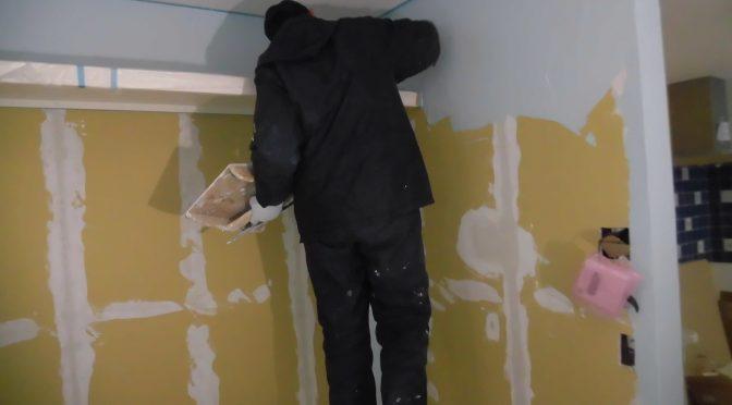 漆喰塗壁終わりました