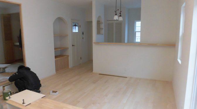 床塗装終わりました
