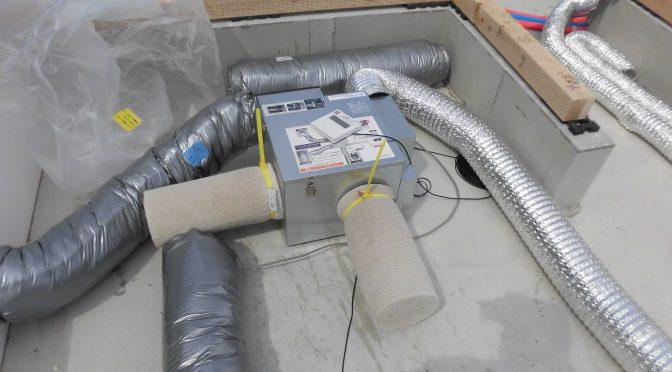 空気清浄24時間換気システム取り付けました