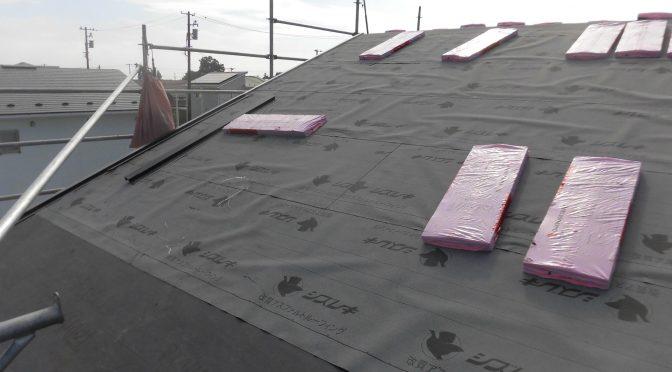 屋根工事始まりました^^