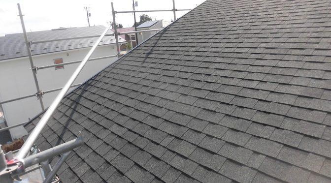 屋根工事終わりました^^