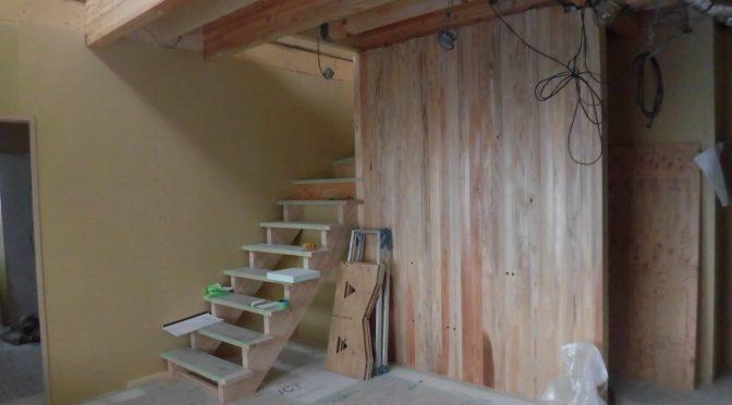 階段付きました^^
