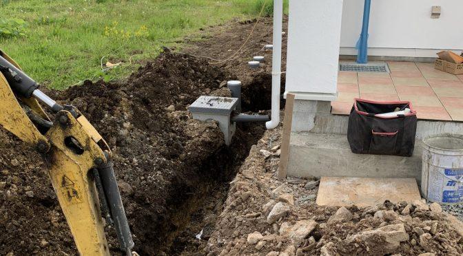 外部給排水工事終わりました