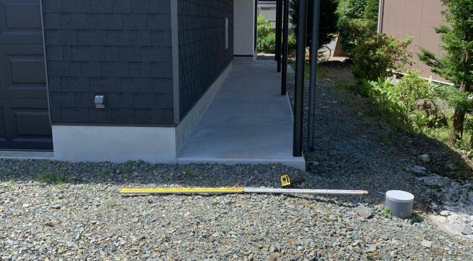外構工事測量終わりました