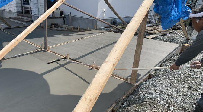 土間コンクリート工事終わりました