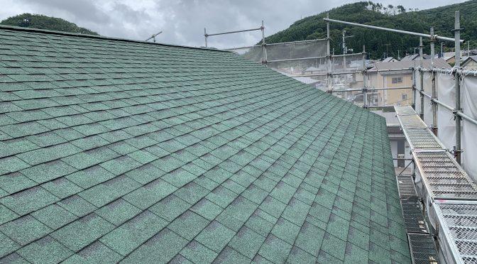 屋根工事終わりました